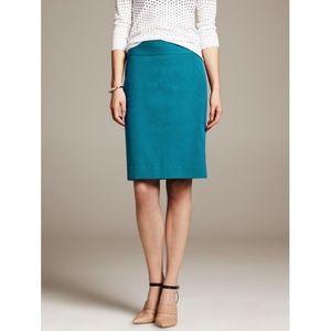 Turquoise Banana Republic Pencil Skirt